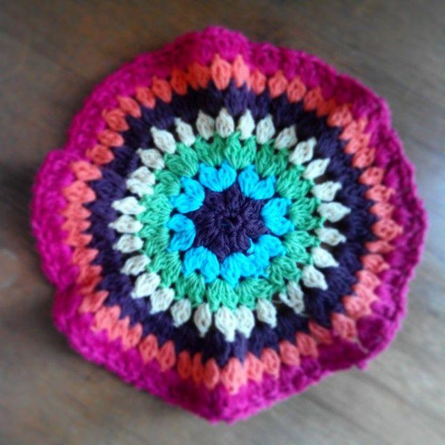 Rainbow crochet decoration
