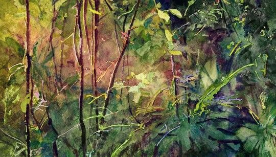 Watercolor by Bill Sienkiewicz