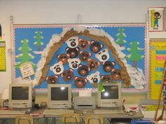 Hibernation bulletin board great to use with Bear Snores On