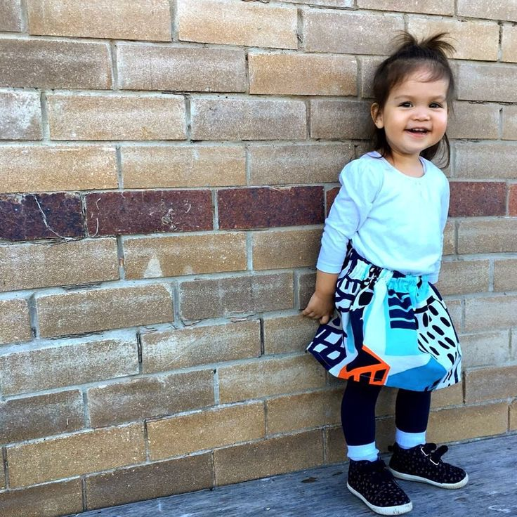 Cityscape skirt from Kablooie Store. Fun quirky, colourful clothing for kids!