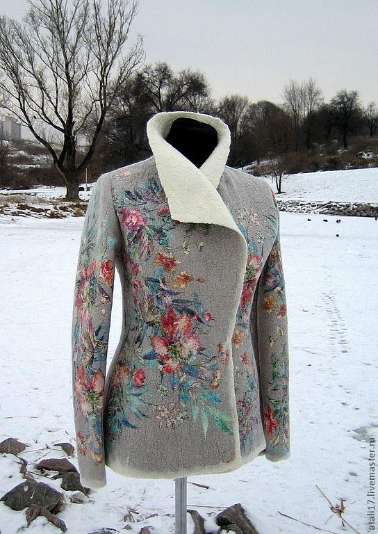 """OMG!!    Пиджаки, жакеты ручной работы. Ярмарка Мастеров - ручная работа Жакет """"Азалия""""- войлок. Handmade."""