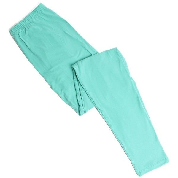 Just Jewelry Leggings - Mint ❤ liked on Polyvore featuring pants, leggings, legging pants, blue trousers, mint green pants, blue leggings and mint leggings