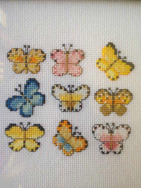 Butterfly cross stitch by kateym71, via Flickr: