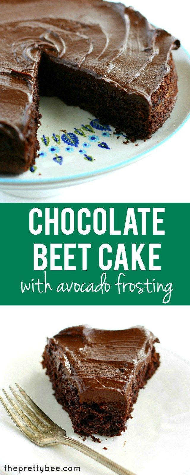 An easy recipe for chocolate beet cake with chocolate avocado frosting. It's not only incredibly delicious, it's also a healthier dessert choice! So yummy no one will ever guess it's healthy though! Gluten free, vegan, and free of the top 8 allergens!