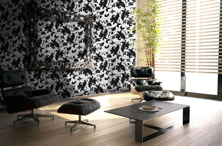 Foglie Black and White > Collezione Natural Instinct  #wallpaper #mycollection #room #colour #design #home #office #living #natural #black #white