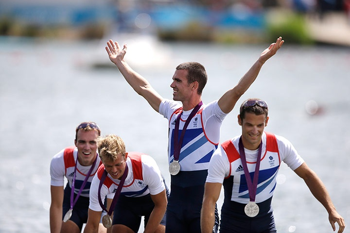 Team GB medals: Chris Bartley, Richard Chambers, Rob Williams and Peter Chambers