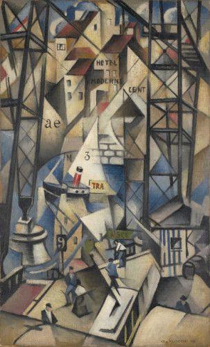 Le Vieux Port, 1913  by Christopher Nevinson (British 1889-1946)