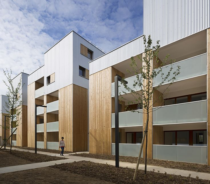 Built by Colboc Franzen & Associés in Nanterre, France with date 2014. Images by Cécile Septet. The Hoche ecodistrict is rising from the ground on old industrial sites. It has to mediate between the scale of the C...