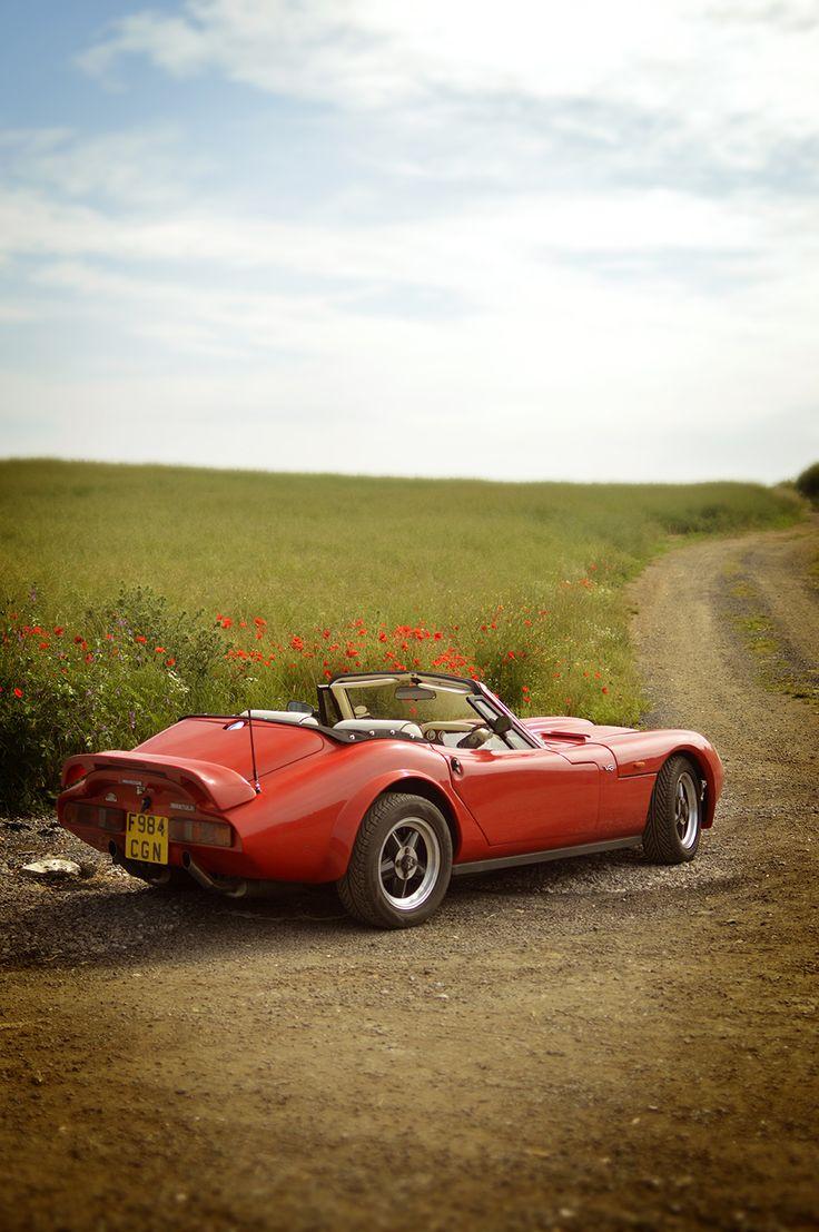 Marcos Mantula Spyder Car, Vintage, Cars