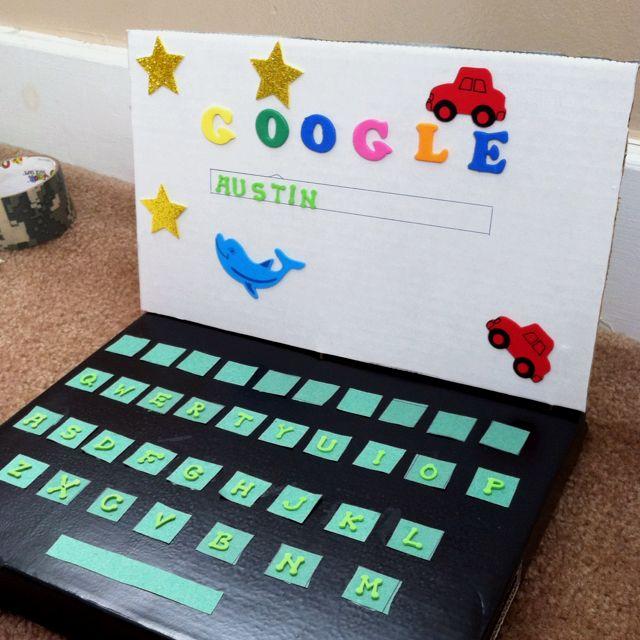 Laptop valentine box for school