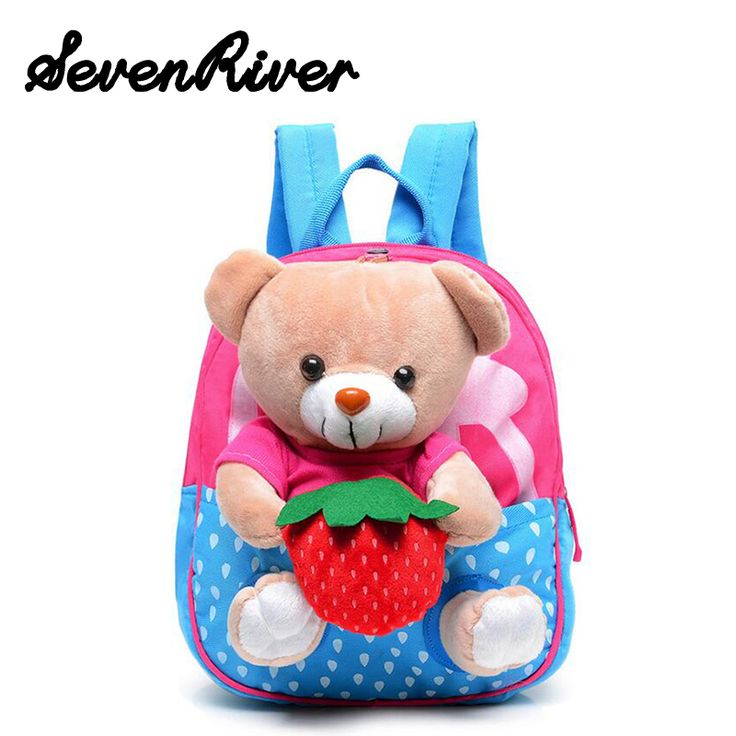 2016 New Cute Rabbit Bear Children Shoulders School Bags Cartoon Baby Backpack For Boys And Girls's Bag
