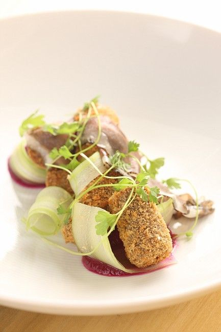 duck confit, red cabbage, celery