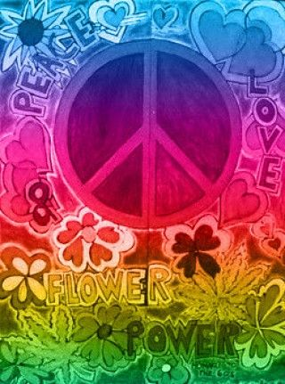 Peace & Flower Power ,,,,, yes, I was around during the late 60's & early 70's for it! Some of it was amazing, some not so much. I survived it all!!! still love lots of music from that time, still love flowers, still love some of the styles from back then. What a time it was! dw