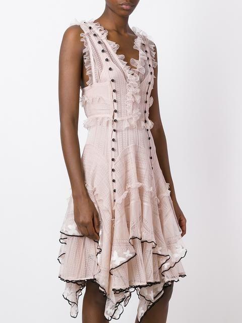 Alexander McQueen платье с вышивкой