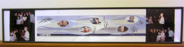 What's better than an #NSync signed poster? A An 'N Sync NSYNC Poster Signed ALSO by Lucie Arnaz, her daughter Kate, and Rosie O'Donnell  in 1998.