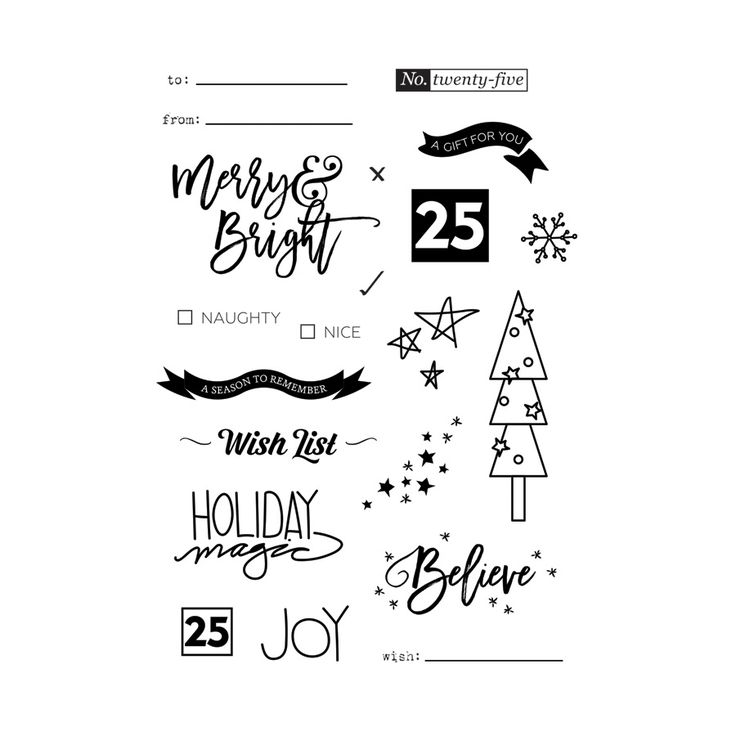 Merry and Bright Stamp Set - Ninabrook Paper Crafting