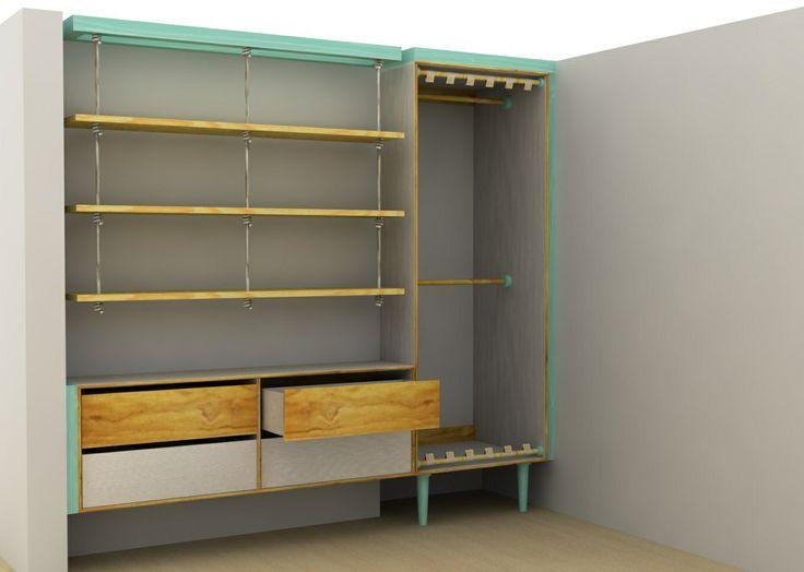 Closet. (Render) Diseño y Fabricación, eColor - Idearion, Calle 85 # 14-44. Bogotá - Colombia