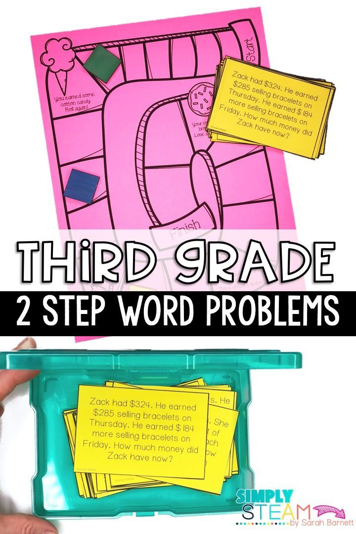 Two Step Word Problems Third Grade Math Math Subtraction