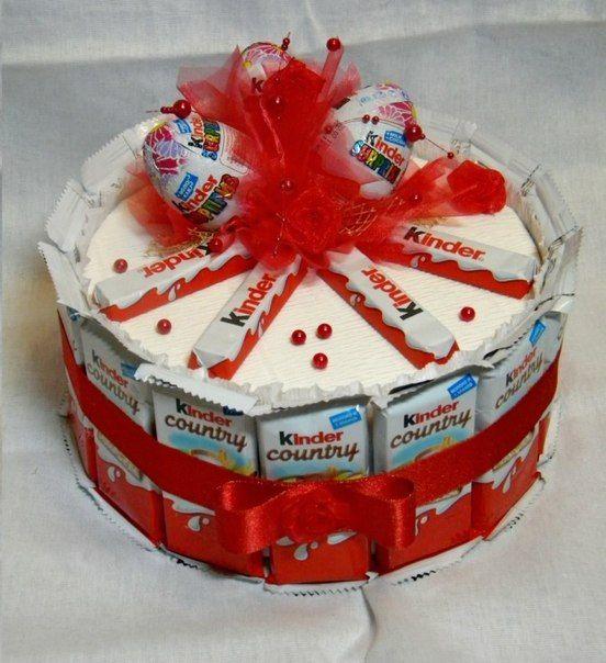 kinder chocolate joy kinder bar kinder surprise egg cake tower candy gift idea basket box valentines day birthday wedding present romantic romance love