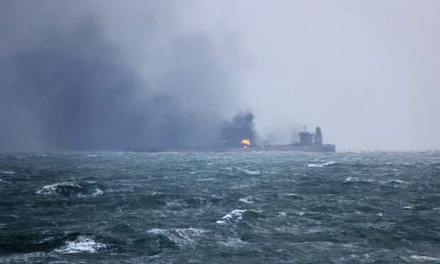 Something's Fishy: Iranian Oil Tanker On Fire in Ocean 160 Miles from Shanghai – Was it Headed to North Korea?