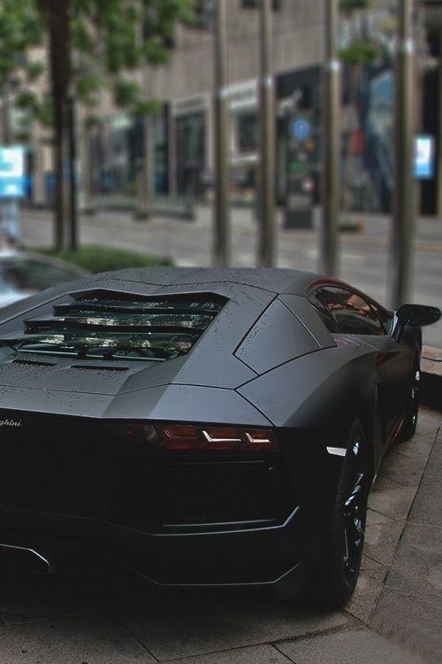 Black on Black Lamborghini