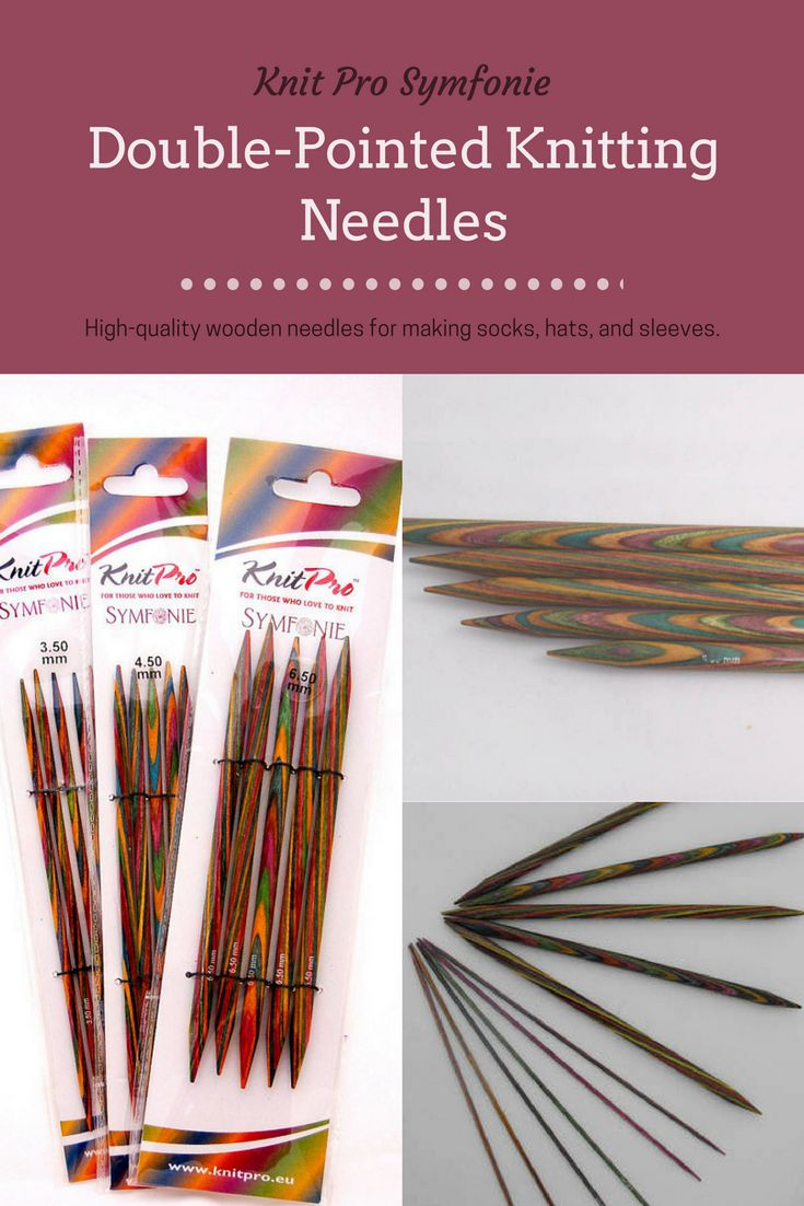 I love knitting with these needles. Knit Pro Symfonie needles are lightweight, and easy on the hands, but still strong, even the tiny double-pointed needles I like for sock knitting. #affiliate