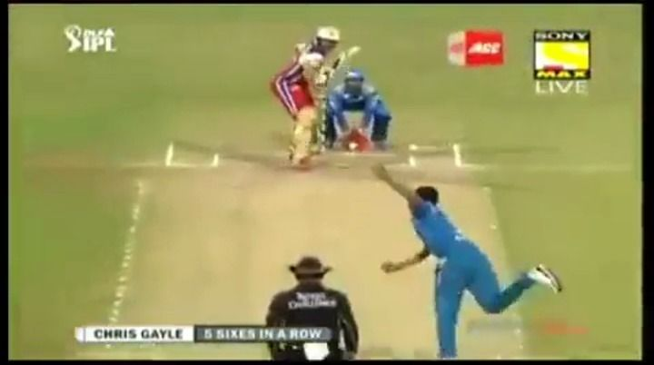 Chris Gayle slams 5 SIXES in a row vs PWI | IPL5