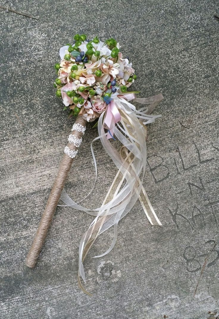 Custom Order for Flower Girl Wand Blush Pink Rose Ivory sparkle by KAArtisticEvents on Etsy