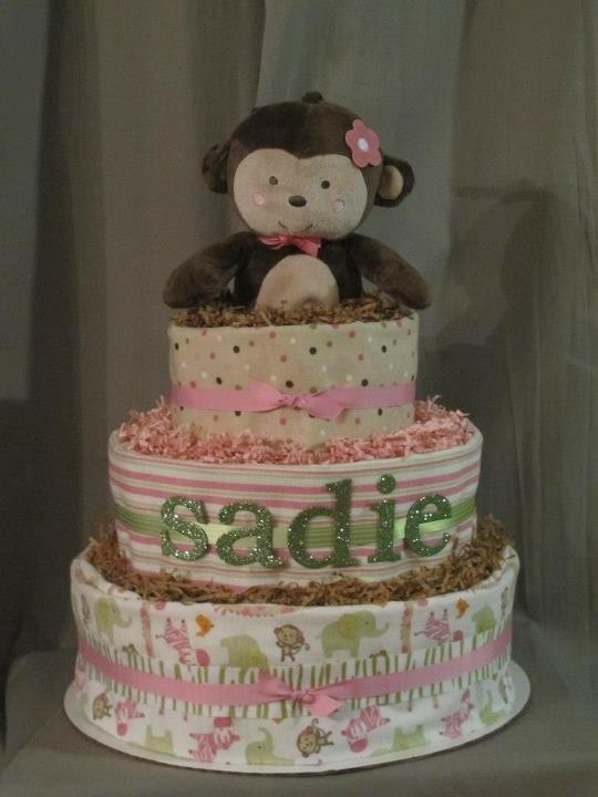 Diaper Cake Girl Monkey