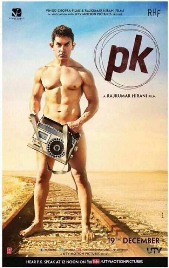 Aamir Khan poses nude on PK poster: FIRST LOOK #Bollywood #Movies
