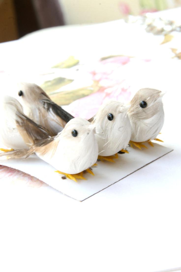 Bulk of 5 artificial bird grey colored lot of 5 birds for Fake birds for crafts