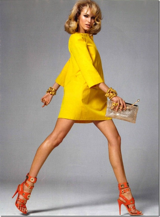 Bright yellow dress what color shoes