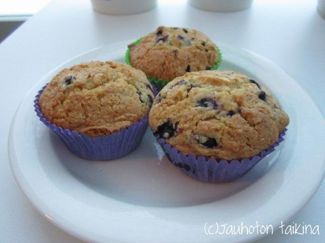 Jauhoton taikina : Gluteenittomat mustikkamuffinsit