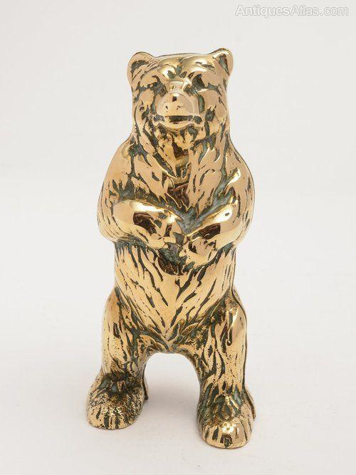 Antiques Atlas - Brass Bear Money Box, Circa 1920
