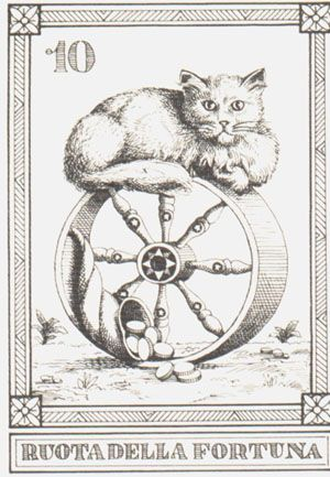 WHEEL OF FORTUNE Osvaldo Menegazzi tarot card
