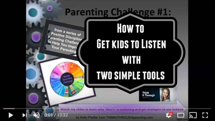 """How to Get Kids to Listen with Two Simple Tools   Parents, do you want your kids to start listening when you talk? Stop saying """"don't . . . """" and get better results by using these two ways of talking to kids. Positive Discipline Lead Trainer, Kelly Pfeiffer offers two helpful strategies to use instead of saying, """"Don't, stop, uh uh and no."""""""
