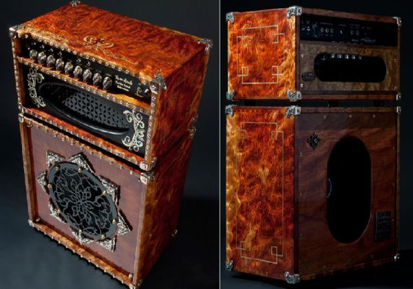 Custom Made Guitar Amp And Speaker Cabinet With An Antique