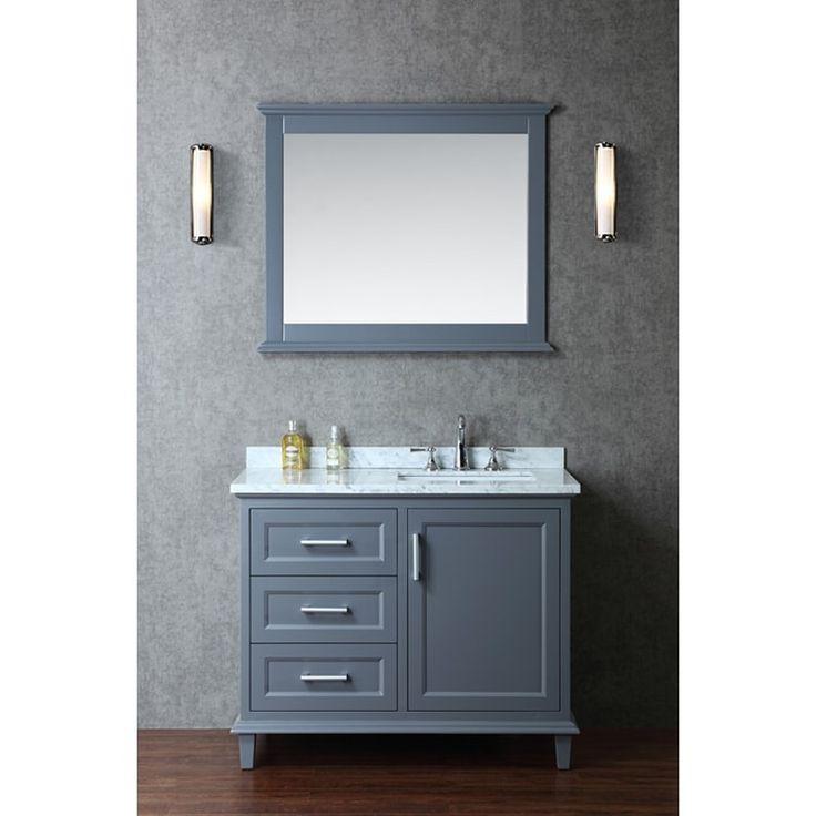 Ariel Nantucket 42 Inch Single Sink Bathroom Vanity Set, Grey, Size Single  Vanities