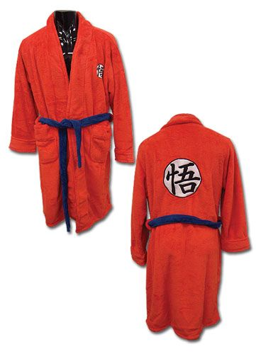 Step out of the shower looking mighty with Dragon Ball Z Goku Bath Robe. One size fits most.