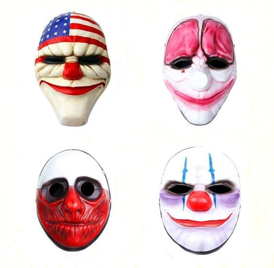 Gmasking Resin Payday 2 Dallas,hoxton,wolf,chains Mask 4pcs Replica Gmask Keychain * See this great product.