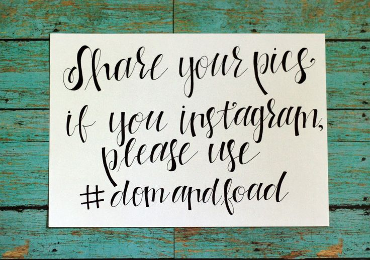 How to create a hashtag for your wedding
