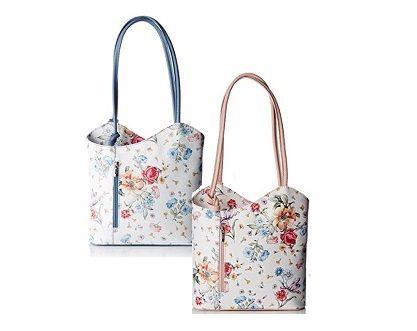 Taschen mit zarten #Blumenmustern von #ChiccaBorse kündigen den #Frühling an #Handtaschen