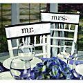 Mr. & Mrs. White Wedding Sashes | Overstock.com $17.98