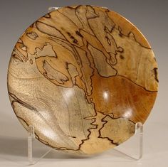 Spalted Texas Cedar Elm Wood Bowl Turned Wooden Bowl Art Number 5882 by…