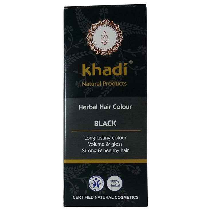KHADI - Herbal Hair Colour Black - Long-lasting - 100% herbal >>> This is an Amazon Affiliate link. Want to know more, click on the image.