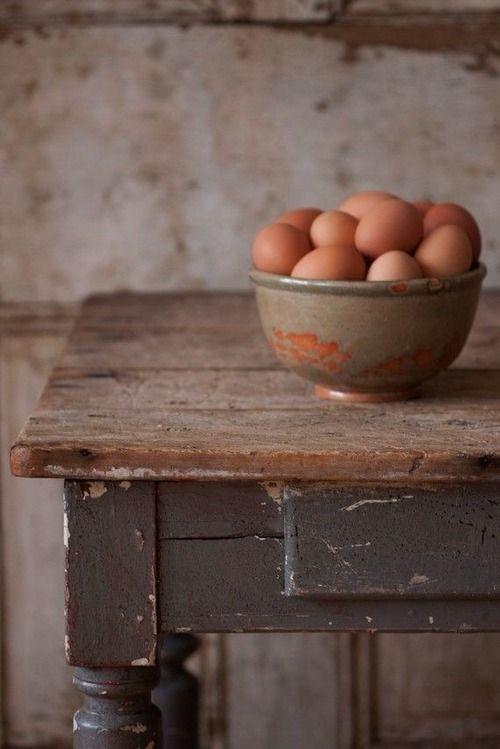 Farm-fresh eggs.