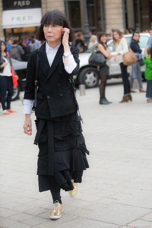 Rei Kawakubo after Commes des Garcons SS14, Paris
