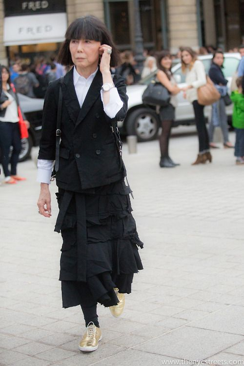 The NYC Streets , Rei Kawakubo after Commes des Garcons SS14