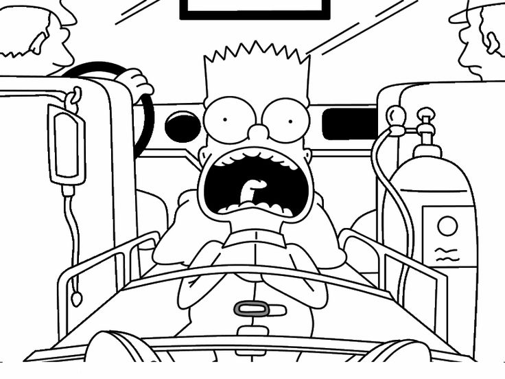110 best coloring pages the simpsons images on pinterest for Bart simpson coloring pages