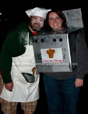 coolest homemade bun in the oven pregnant couple costume - Pregnant Halloween Couples Costumes